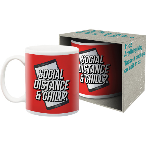 Social Distance and Chill 11 Ounce Boxed Mug