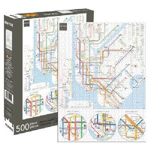 New York Subway Map 500 Piece Puzzle