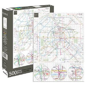 Paris Metro Map 500 Piece Puzzle