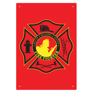 Firefighter Tin Sign