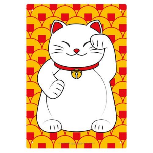 Lucky Cat Tin Sign