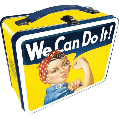 Rosie The Riveter Large Gen 2 Fun Box Lunchbox Tin Tote.
