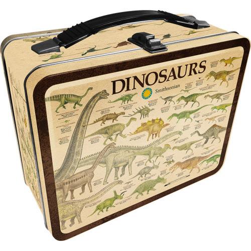 Smithsonian Dinosaurs Large Gen 2 Fun Box Lunchbox Tin Tote.