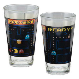Pac-Man 16 Ounce Laser Decal Glass 2-Pack