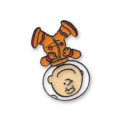 Charlie Brown Space Enamel Pin.
