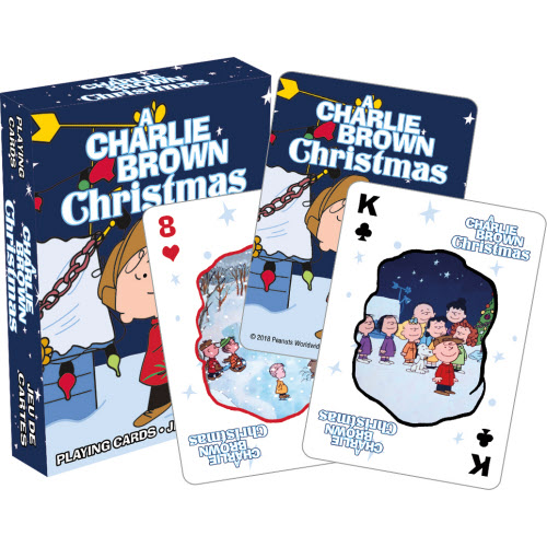 Peanuts Charlie Brown Christmas Playing Cards.