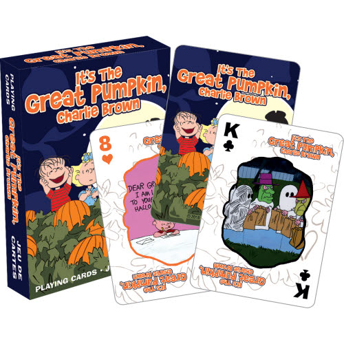Peanuts Great Pumpkin Playing Cards.