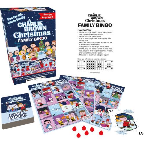 Charlie Brown Christmas Family Bingo.