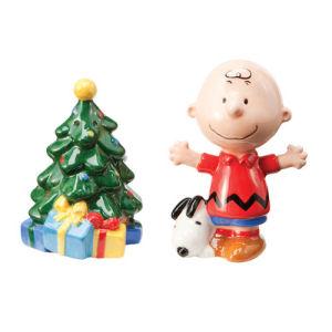 Peanuts Charlie Brown Christmas Tree Ceramic Salt and Pepper Set