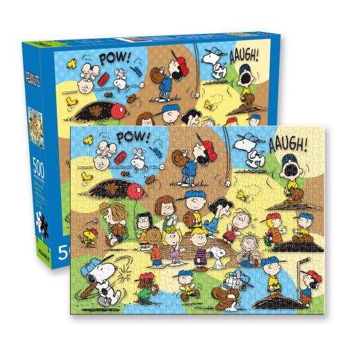 Peanuts Baseball 500 Piece Puzzle.