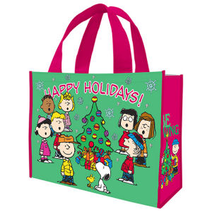 Peanuts Happy Holidays Large Gift Tote