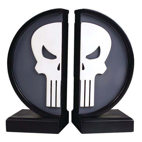 Marvel Comics The Punisher Logo Bookends