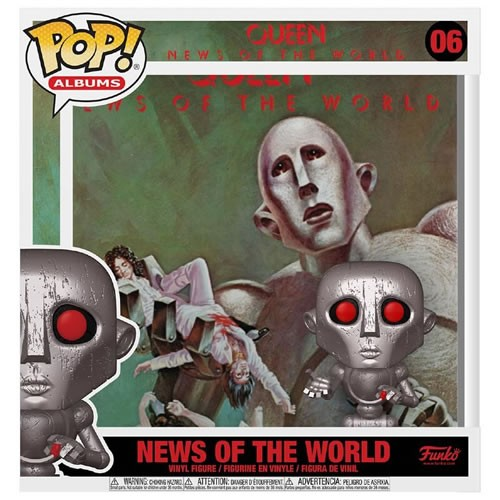Queen News Of The World (Metallic) Pop! Album. Each series has sequential numbering for each character printed outside the box.