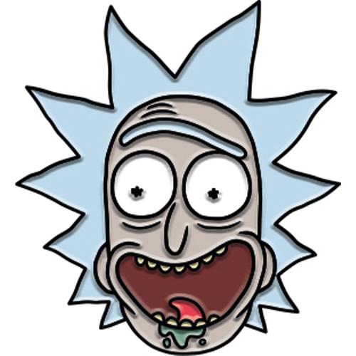 Rick and Morty Rick Enamel Pin.