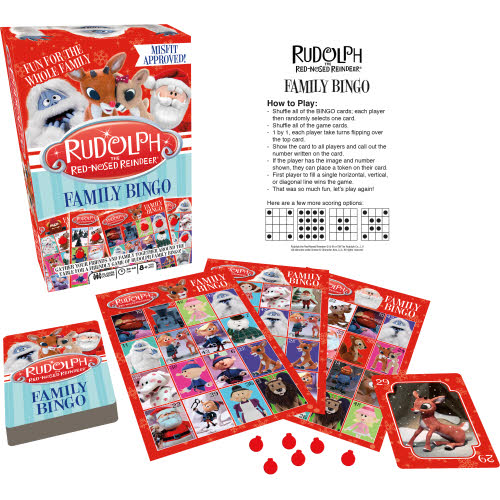 Rudolph the Red Nosed Reindeer Family Bingo.