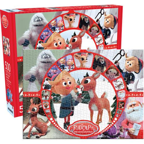 Rudolph Collage 500 Piece Puzzle.