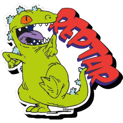 Rugrats Reptar Funky Chunky Magnet.