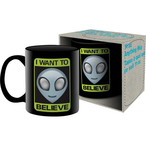 Alien Believe 11 Ounce Boxed Mug.