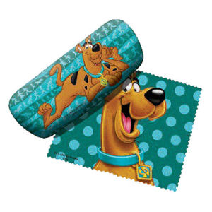 Scooby-Doo Green Eyeglass Case with Cleaning Cloth
