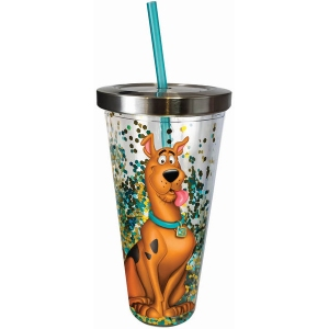 Scooby Doo Glitter Cup with Straw