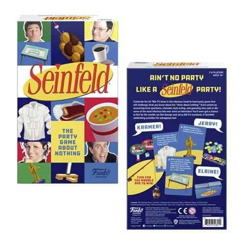 Seinfeld The Party Game About Nothing. Score points by answering trivia questions, charades-style acting, and guessing who said or did some of the most hilarious bits ever aired on television!