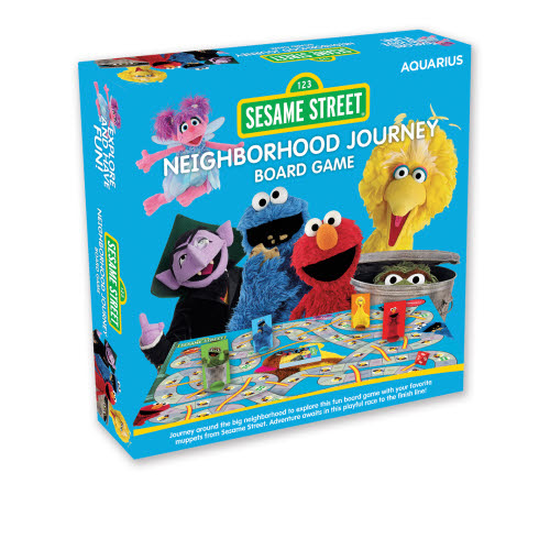 Sesame Street Neighborhood Journey Board Game.