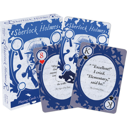 Sherlock Holmes Quotes Playing Cards.