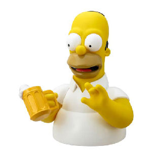 The Simpsons Homer Simpson with Beer Bust Bank