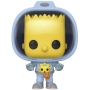 The Simpsons Bart with Chestburster Maggie Pop! Vinyl Figure.