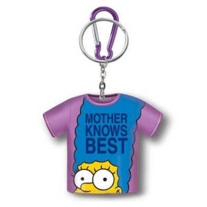 The Simpsons Marge Mother Knows Best T-Shirt Coin Holder Key Chain
