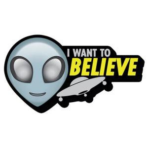 Alien Believe Ship Funky Chunky Magnet