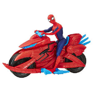 Spider-Man Figure with Cycle Vehicle