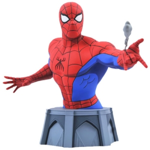 Marvel Comics Spider-Man (Animated) 1/7th Scale Mini Bust. Limited to only 3000 pieces. Bust comes packaged in a full-color box with a certificate of authenticity. Measures 6 inches tall.
