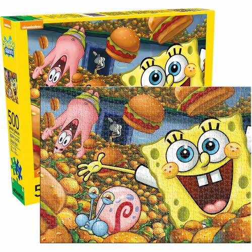 SpongeBob Squarepants Krabby Patties 500 Piece Puzzle