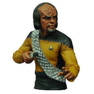Star Trek Select The Next Generation Worf Bust Bank