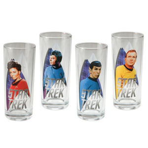 Star Trek 4 Piece 10 Ounce Juice Glass Set