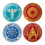Star Trek The Next Generation Shaped Coaster 4 Pack.