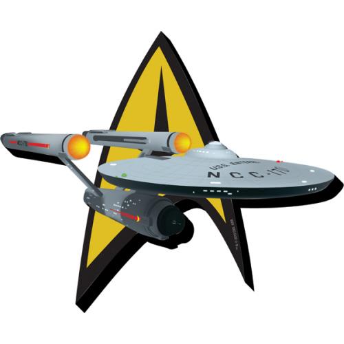 Star Trek Ship and Logo Funky Chunky Magnet
