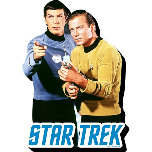 Star Trek Kirk and Spock Funky Chunky Magnet.