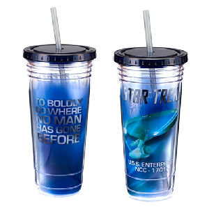 Star Trek Enterprise 24 Ounce Acrylic Travel Cup