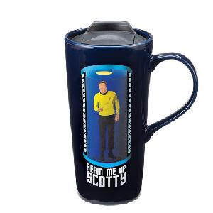 Star Trek Beam Me Up Scotty 20 Ounce Heat Reactive Ceramic Travel Mug