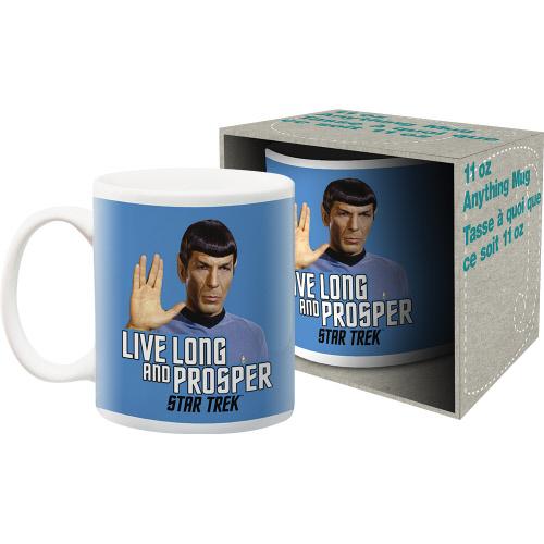 Star Trek Spock Quote 11 Ounce Boxed Mug. Live Long and Prosper.