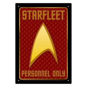 Star Trek Starfleet Personnel Tin Sign