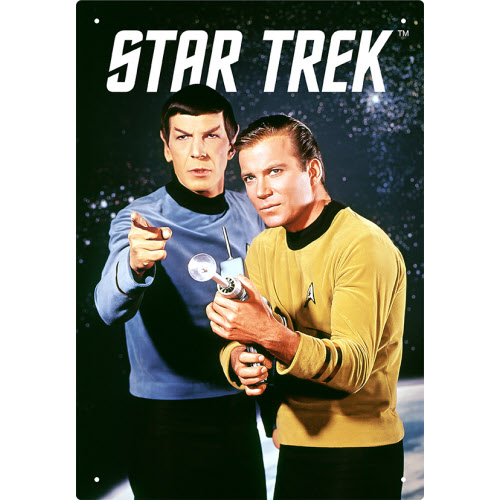 Star Trek Kirk and Spock Tin Sign.