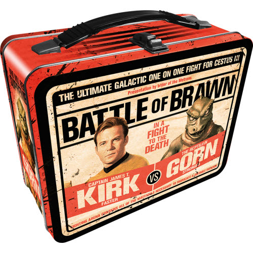 Star Trek Kirk vs Gorn Gen 2 Fun Box Lunchbox Tin Tote.