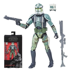 Star Wars The Clone Wars Black Series Clone Commander Gree 6 inch Action Figure