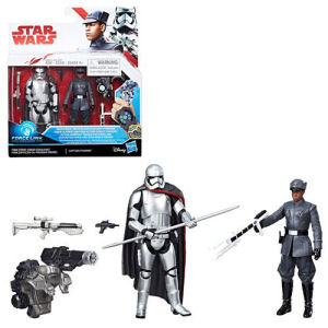Star Wars The Last Jedi Finn (First Order Disguise) vs. Captain Phasma 3.75 Inch Figures - Exclusive