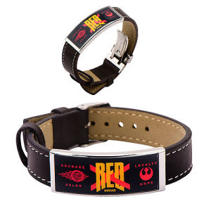 Star Wars Episode VII - The Force Awakens Red X ID Leather Bracelet