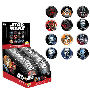Star Wars The Force Awakens Pop! Button Display Case. Display case contains 34 blind bagged pieces. Ages 13 and up.