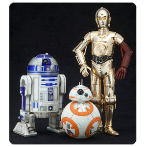 Star Wars The Force Awakens C-3PO R2-D2 and BB-8 Artfx+ 1/10th Scale Statue Set